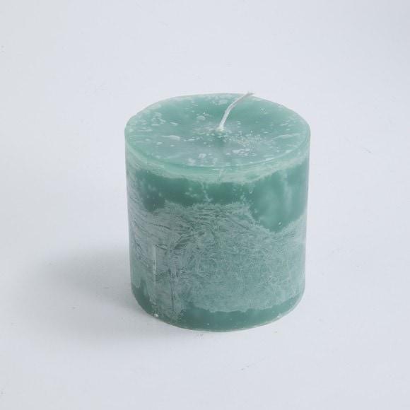 Bougie cylindrique vert royal 10x10cm