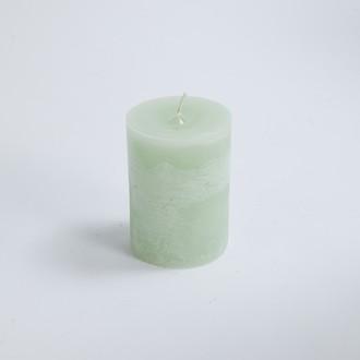 Maom - bougie cylindrique vert d'eau 7x10cm