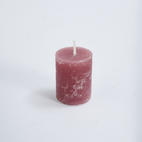 Bougie votive bouton rose 3,8xH4,8cm