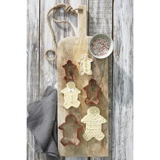 Set de 3 découpoirs Gingerbread en inox et pvc 8-10-12,5