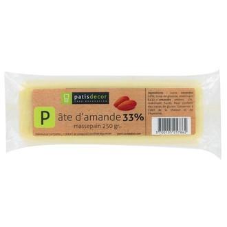 PATISDECOR - Pâte d'amande blanche 33% 250g
