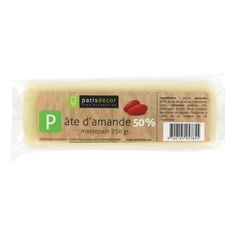 PATISDECOR - Pâte d'amande blanche 50% 250g