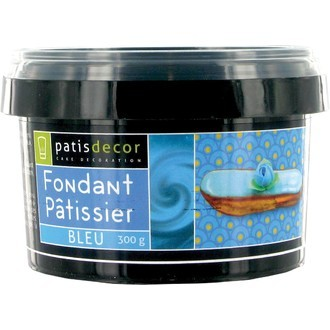 PATISDECOR - Fondant patissier bleu 300g