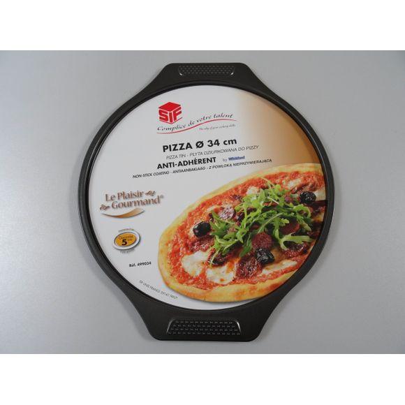 Plaque à pizza revêtue en aluminium 34cm