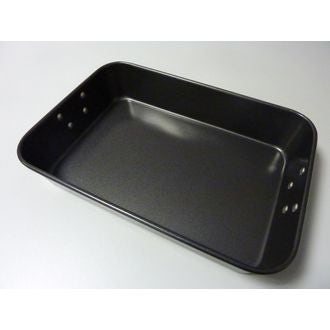 Plat à four rectangulaire avec poignée en aluminium revêtu 40x28cm