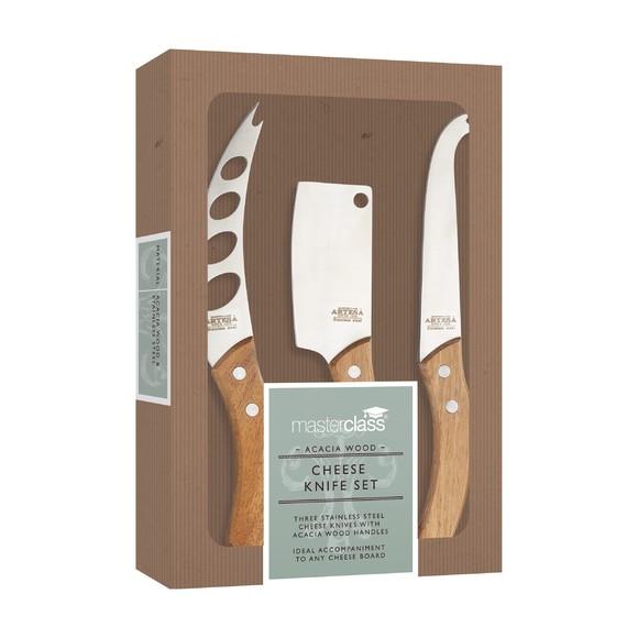 acquista online Set 3 coltelli da formaggio Artese con manico in legno