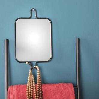 Miroir pateria avec crochet 24x19,5cm