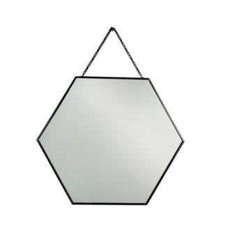 Miroir avec chaîne en métal noir 35x30,4cm