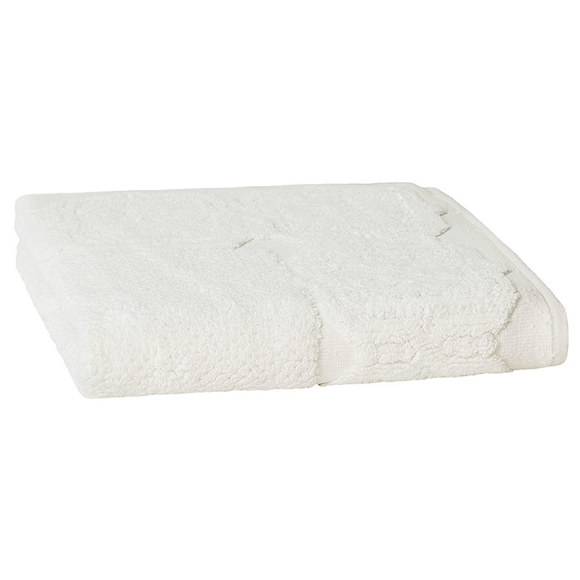 tapis de bain barocco blanc 50x70cm pas cher z dio. Black Bedroom Furniture Sets. Home Design Ideas