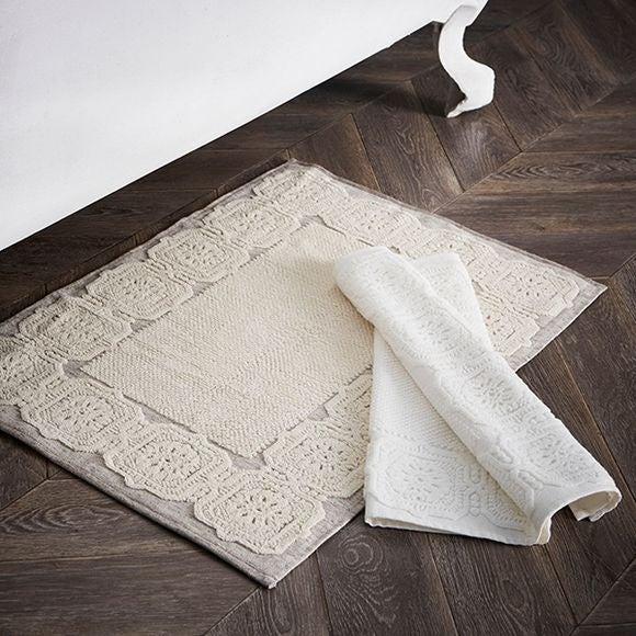 Tapis de bain Barocco beige 50x70cm