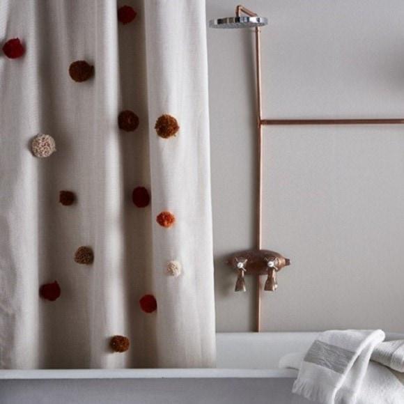 acquista online Tenda per doccia in poliestere naturale