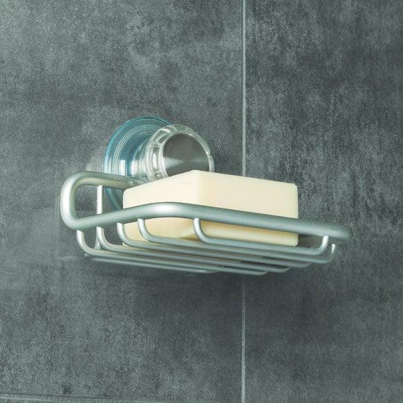 Portasapone da parete in alluminio