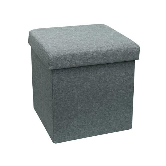 acquista online Pouf contenitore in tessuto grigio