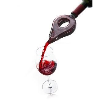 VACUVIN - Aérateur à vin en plastique noir et transparent