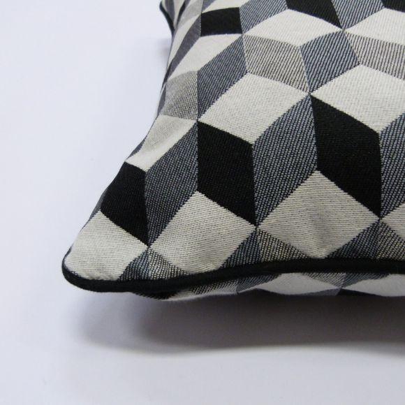 Achat en ligne Coussin carré noir Gustave 40x40cm