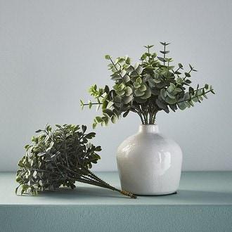 Pic bouquet d'eucalyptus vert h20cm