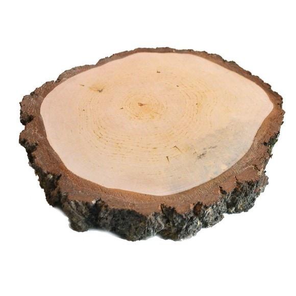 Achat en ligne Plateau bougie rond en bois tronc d'arbre D30cm