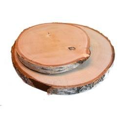 Achat en ligne Plateau bougie rond en bois tronc d'arbre D22cm