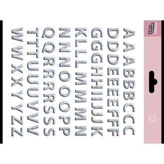 LA CARTERIE - Sticker lettres argent