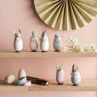 Uovo in legno 6x4cm