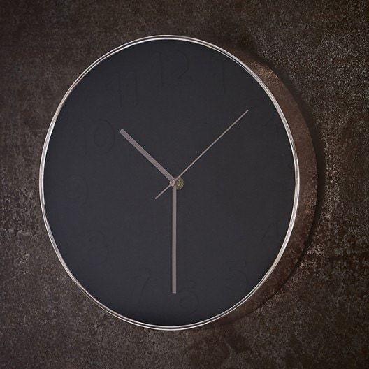 Horloge noire cuivrée 30cm