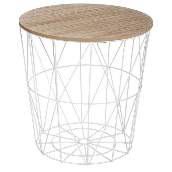 Table filaire Kumi blanche h41cm