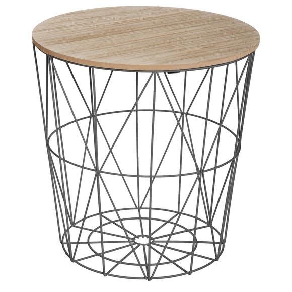 Achat en ligne Table filaire en métal noir Kumi 39,5x41cm