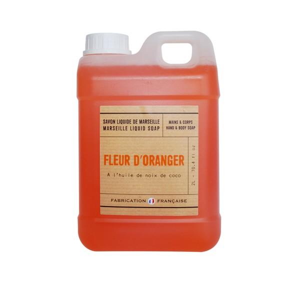 Achat en ligne Savon liquide à la fleur d'oranger 2l