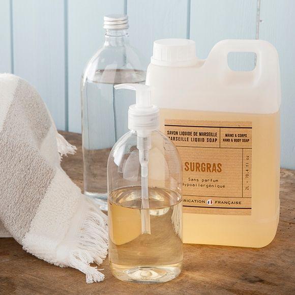 Flacone trasparente per sapone liquido, 100ml