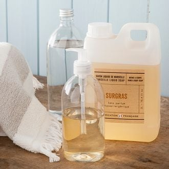 Flacon pour savon liquide transparent 500 ml