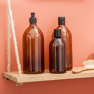 Flacon pour savon liquide ambrée 500ml