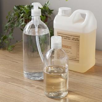 Flacon pour savon liquide transparent 1L