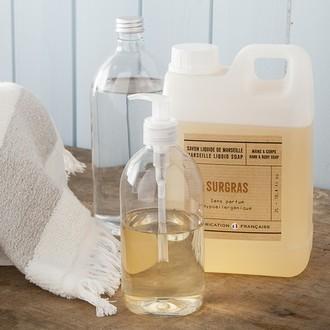 Flacone trasparente per sapone liquido 1l