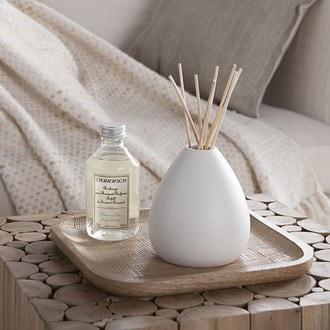 Vase bouquet parfumé poire blanc mat