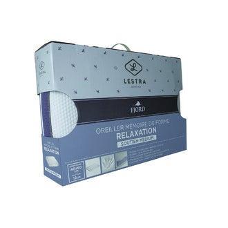 LESTRA - Oreiller rectangle mémoire relax sérénité 40x60cm