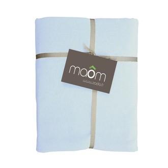 MAOM - Drap housse en lin de coton lavé ciel 90x200cm