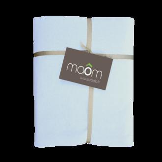 MAOM - Drap housse en lin de coton lavé ciel 160x200cm