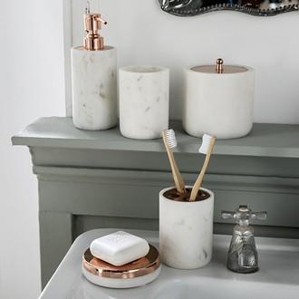 Porte-savon en marbre et cuivre lou