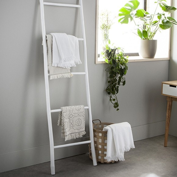 Echelle en bambou blanche Scali 50x180cm
