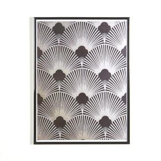 Cadre lila en pvc noir 40x50cm