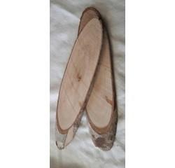 Achat en ligne Lot de 5 tranches de bois ovales naturelles