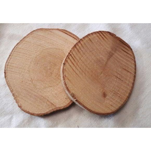Set di 5 tavole di legno tondo naturale