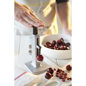 Dénoyauteur à cerises et prunes en aluminium et lame en inox 22,5x10,5x8cm