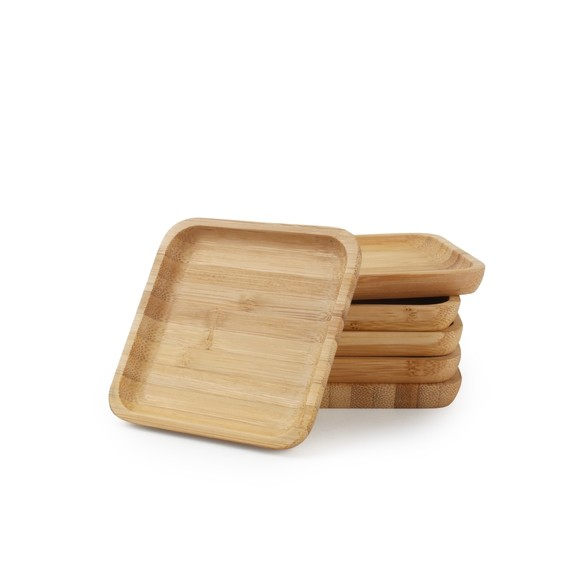 acquista online Set di 6 sottobicchieri in bambù