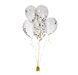 Achat en ligne Set de 6 ballons confettis or,noir,blanc