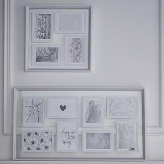 Pèle-mêle entre 2 vues en bois blanc - 4 vues