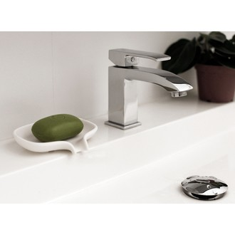 Porte-savon en silicone blanc 2x13,5x8,5cm