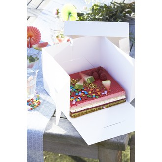 Boite à gâteau blanche 21x21x15cm