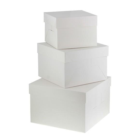 Cake box bianco 26x26x18cm