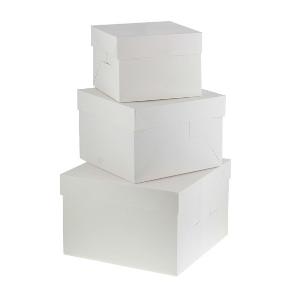 Boite à gâteau blanche 31x31x20cm